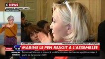 """VIDEO. """"Un concours de retournement de veste"""" : Marine Le Pen tacle Frank Dubosc sur les Gilets jaunes"""