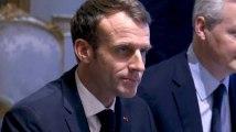 """""""Gilets jaunes"""" : Macron reçoit des patrons de banque"""