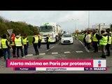 Alerta máxima en París por protestas contra alza de precios de combustibles | Noticias con Yuriria