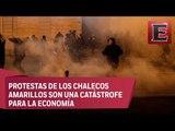 """""""Chalecos amarillos"""" rompen cerco y causan disturbios en toda Francia"""