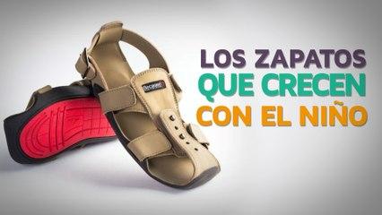 Los zapatos que crecen con el niño   Una solución simple y brillante