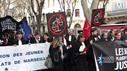 Marseille : les avocats dans la rue contre la réforme de la justice