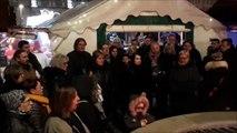 Minute de silence sur le marché de Noël de Pont-à-Mousson suite au drame de Strasbourg