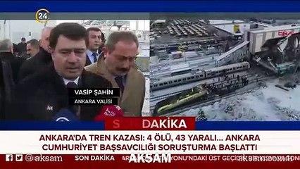 Vali Şahin'den tren kazasına ilişkin açıklama
