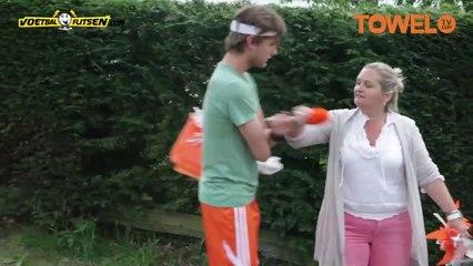 EK 2012  Wassenaar kleurt Oranje - Deze mevrouw is woedend