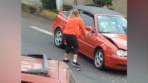 Rage au volant : elle détruit une voiture après un accrochage