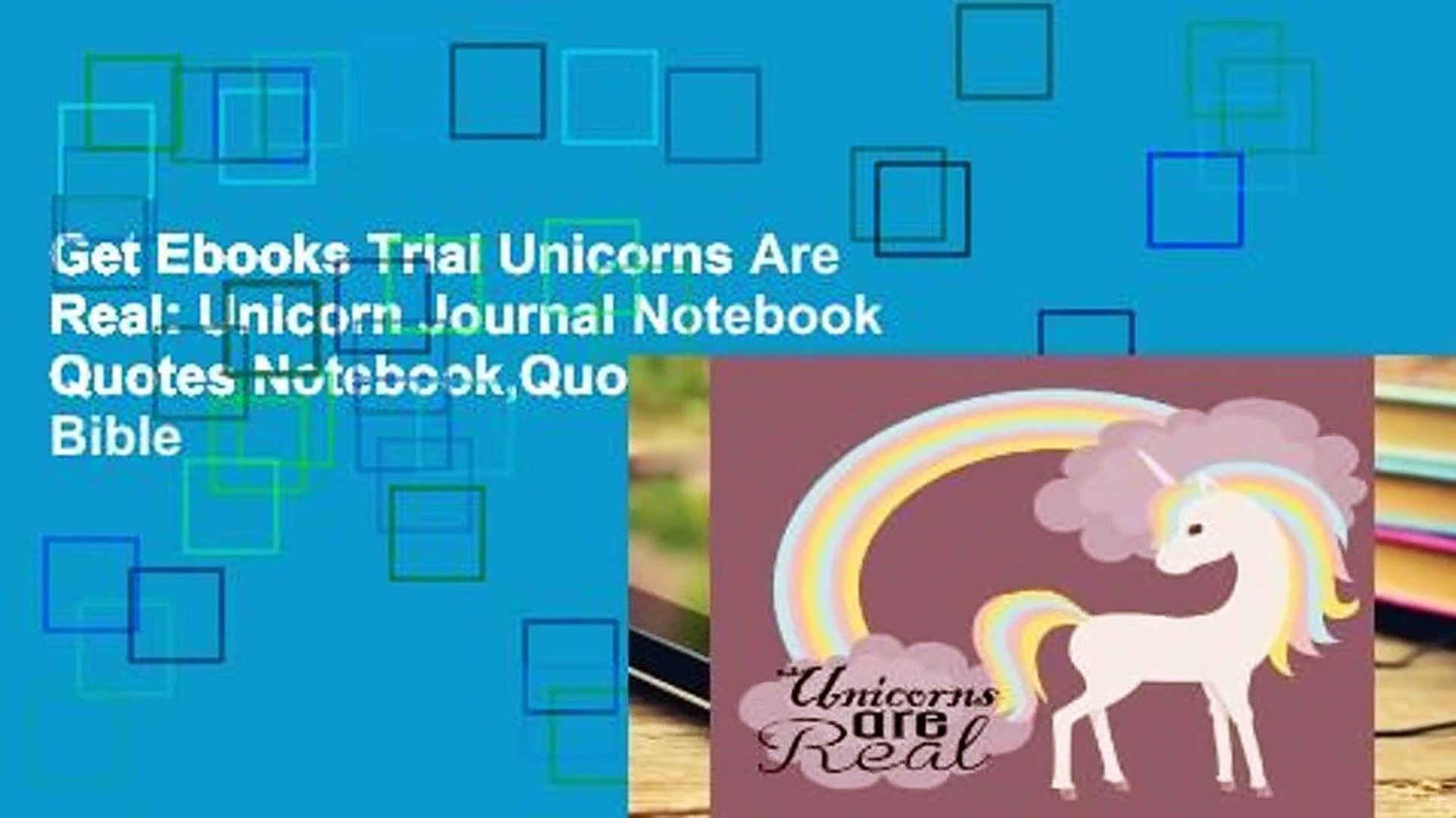 Get Ebooks Trial Unicorns Are Real: Unicorn Journal Notebook Quotes Notebook,Quotes Journal, Bible