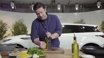 Jamie Oliver Cooking a Bhaji Burger