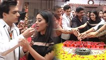 Shivangi Joshi & Mohsin Khan celebrate 2800 episodes of Yeh Rishta Kya Kehlata Hai | FilmiBeat