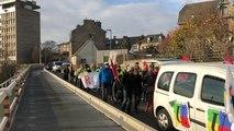 Les Gilets jaunes rejoignent une manifestation intersyndicale