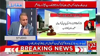 We disclosed the Dubai property of Aleema Khan and Senator waqar and FBR is taking all credit, we should get 20 % - Rauf Klasra
