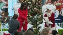 Quand Michelle Obama donne un petit cours de danse au Père Noël