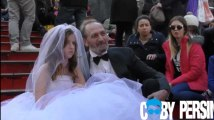 Un (faux) mariage forcé à New York provoque la fureur des passants