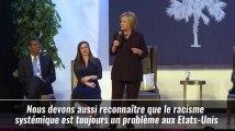 """Clinton : """"Le racisme est un problème aux Etats-Unis"""""""