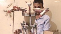 Yemeni teenager won't let war stand in the way of his dreams of being an inventor