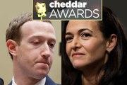 Cheddar Awards: Mark Zuckerberg and Sheryl Sandberg Are 2018's Biggest Losers