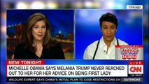 Erin Burnett discuss about Michelle Obama says Melania Trump never reached out to her for her advice on being First Lady. #FLOTUS #MichelleObama #MelaniaTrump #ErinBurnett