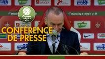 Conférence de presse Stade Brestois 29 - AS Béziers (3-0) : Jean-Marc FURLAN (BREST) - Mathieu CHABERT (ASB) - 2018/2019
