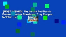 [MOST WISHED]  The Instant Pot Electric Pressure Cooker Cookbook: Easy Recipes for Fast   Healthy