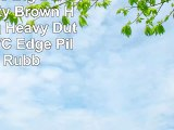 Extra Large Big Dark Light Rusty Brown Hardwearing Heavy Duty Black PVC Edge Pile Top