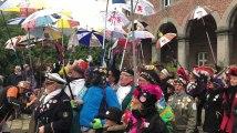 Binche : carnaval de Dunkerque sur le marché de Noël