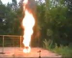 Balles de ping pong : ça prend feu facilement !