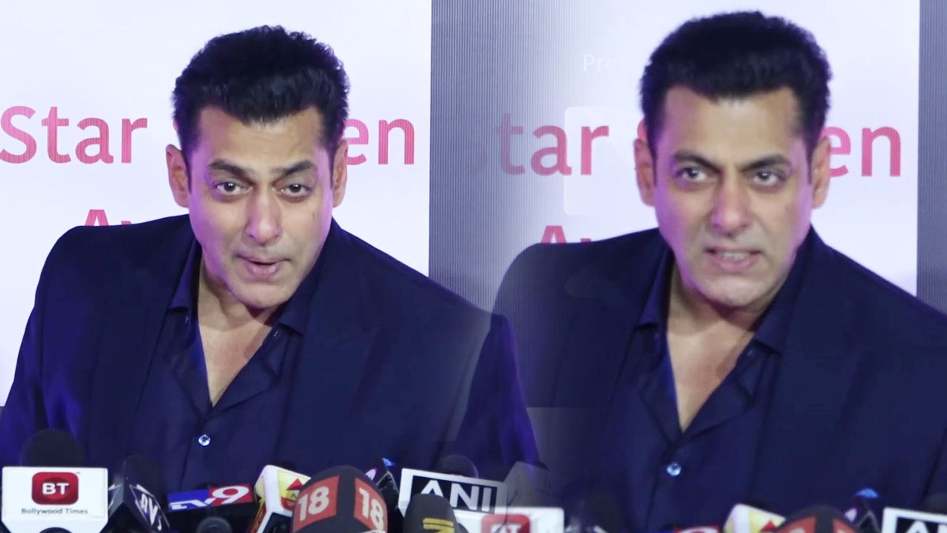 Salman Khan's fun moment with media during Star Screen Awards 2018; Watch Video | FilmiBeat