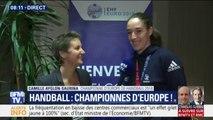 """""""On a crié, on a dansé..."""" La championne d'Europe Camille Ayglon-Saurina raconte la nuit de fête des Bleues"""