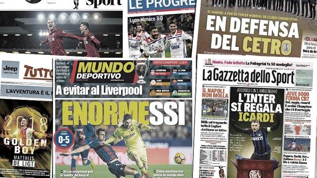Les médias espagnols émerveillés par Lionel Messi, l'avenir de Mauro Icardi sur le point d'être réglé