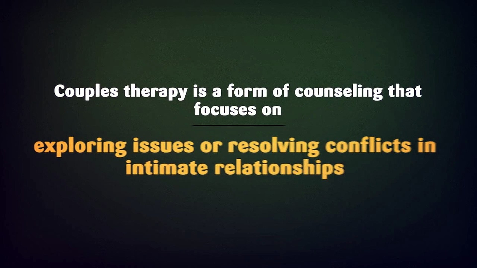 Couples Therapy - How does it work?