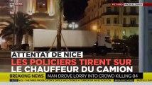 Attentat de Nice : des coups de feu nourris des policiers contre le camion