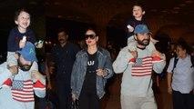 Taimur Ali Khan spotted at Mumbai airport with Kareena Kapoor Khan & Saif Ali Khan | FilmiBeat