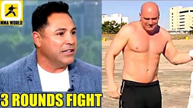 Dana White and Me inside the ring for 3 Rounds on May 5 2019 Lets Do it-Oscar de la hoya,Lee,Usman