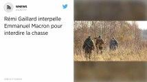 Rémi Gaillard interpelle Emmanuel Macron pour interdire la chasse