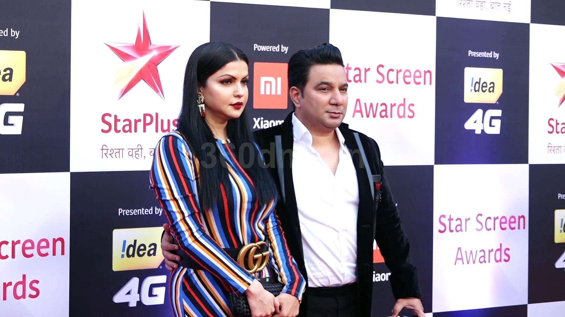 Vicky Kaushal, Ayushmann and Urvashi Rautela at Red Carpet of Star Screen Awards 2018