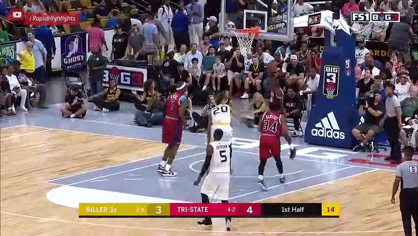 Killer 3s vs Tri-State – Full Game Highlights   Week 7   Aug 3, 2018   BIG 3 Basketball