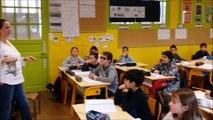La députée Caroline Fiat en visite dans une classe de CM2 de l'école Arthur-Rimbaud de Blénod-lès-Pont-à-Mousson