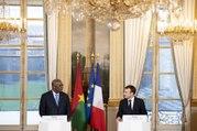 Conférence de presse d'Emmanuel Macron avec Roch Marc Christian Kaboré, Président du Burkina Faso