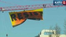 Greenpeace déploie une banderole au-dessus de la Maison Blanche