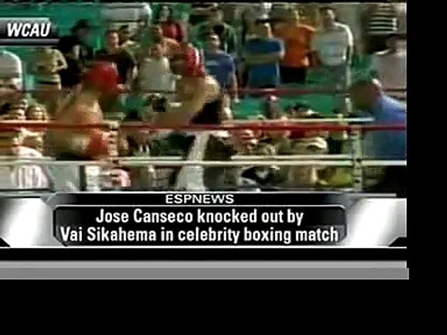 Vai Sikahema Knocking out Jose Canseco