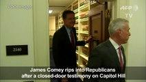 Ex-FBI director Comey rips into Republicans over Trump's lies