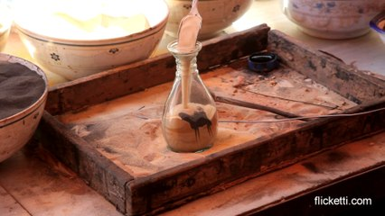 Arabic sand art in a bottle