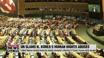 UN adopts resolution condemning N. Korea's human rights violations