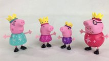 Peppa Pig Princess Peppa's Royal Family w King Daddy Queen Mummy Prince George || KTB