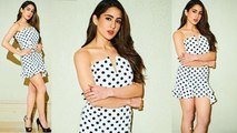 Sara Ali Khan gives fashion goals for New Year Bash in Mini Polka Dot Dress | Boldsky