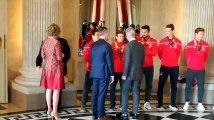 Les Red Lions sont reçus au Palais Royal