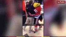 NHL : bagarre surréaliste entre une mascotte et un fan
