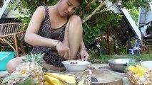 Nikka Cook Fish Egg In Pineapple Eating Delicious - Cooking wild