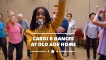 Cardi B performs for senior citizens in Carpool Karaoke