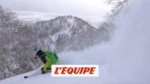 Dans la poudreuse sur deux volcans japonais - Adrénaline - Ski freeride